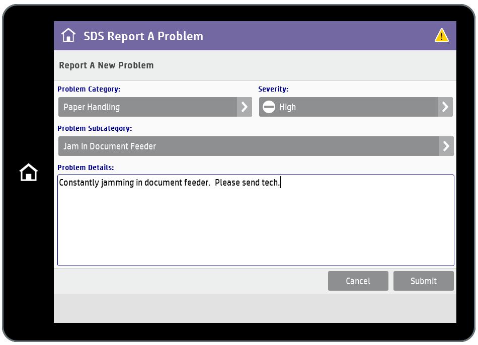 SDS Report a Problem